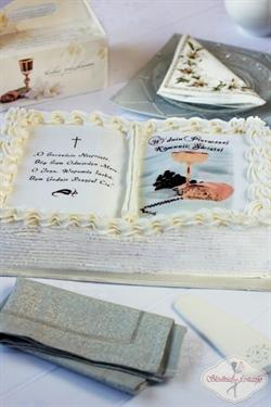 Tort komunijny w kształcie księgi