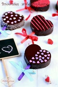 Walentynkowe brownies