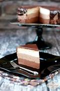 Sernik na zimno potrójnie czekoladowy