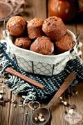 Muffinki bananowo-czekoladowe z orzechami