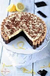 Truflowe ciasto czekoladowe z musem cytrynowym