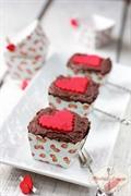 Czekoladowe muffinki z karmelową wkładką i kremem czekoladowym