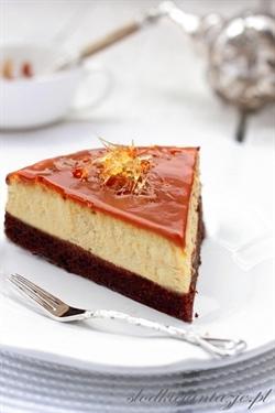 Sernik karmelowy na spodzie brownie - obłędny