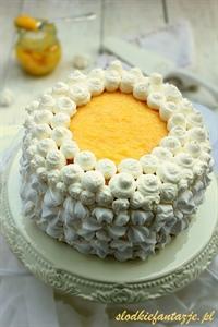 Tort z kremem cytrynowym i lemon curd