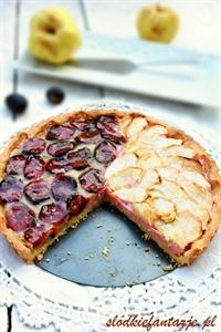 Jesienna tarta śliwkowo-jabłkowa