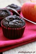 Puszyste muffinki Murzynki z jabłkiem