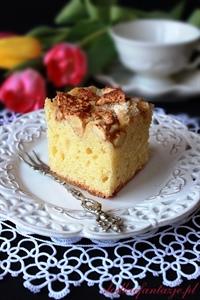 Ciasto maślano-śmietankowe z jabłkami