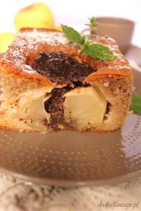 Ciasto cynamonowe nadziewane jabłkami i masą makową