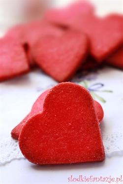 Kruche ciasteczka walentynkowe - serca