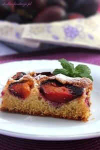 Pełnoziarniste ciasto z owocami