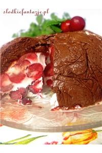 Mrożony deser wiśniowo-czekoladowy