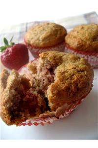 Muffinki bananowo-truskawkowe