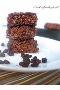 Chrupiące czekoladowe ciasteczka owsiane