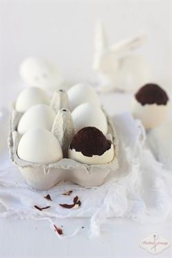 Brownies w skorupce - wielkanocne jajeczka
