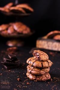 Ciasteczka mocno czekoladowe